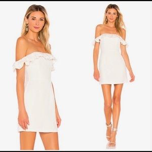 By The Way Revolve Ruffle Off The Shoulder Dress.